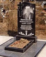 Одинарный памятник с крестом 1