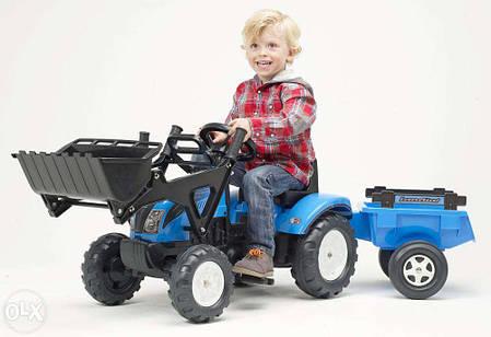 Трактор Педальный с Прицепом и Ковшом Landini Falk 2050CМ, фото 2