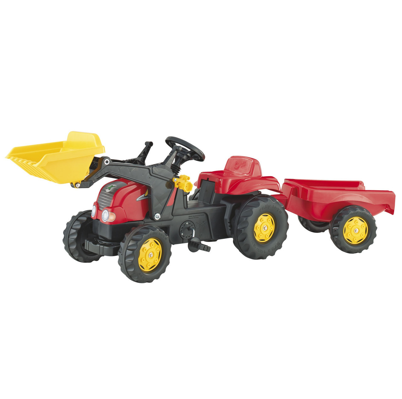Трактор Педальный с Прицепом и Ковшом Rolly Toys 023127
