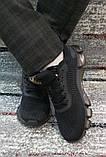Чоловічі чорні кросівки сітка на силіконовій підошві. Розміри 41-45., фото 8