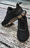 Чоловічі чорні кросівки сітка на силіконовій підошві. Розміри 41-45., фото 5