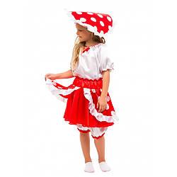Карнавальный костюм ГРИБ МУХОМОР для девочки 3,4,5,6,7,8 лет, детский маскарадный костюм ГРИБ ГРИБОЧЕК