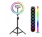 ОПТ Селфи-лампа Led кільце GoVern MJ33 33 см з тримачем для телефону з bluetooth управлінням, фото 3