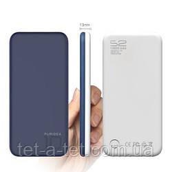Портативна батарея (Power Bank) Puridea S2 10000mAh Li-Pol Rubber Blue & White