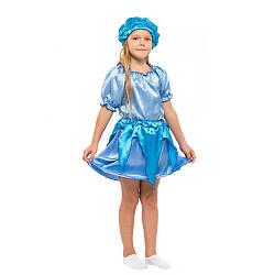 Детский карнавальный костюм КАПЕЛЬКА, ТУЧКА, РУЧЕЕК, ОБЛАЧКО, ДОЖДИК для девочки 4,5,6,7,8,9 лет