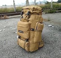Тактичний (туристичний) рюкзак на 80 л збільшується дно Coyote (ta70-new-1005-coyote), фото 3