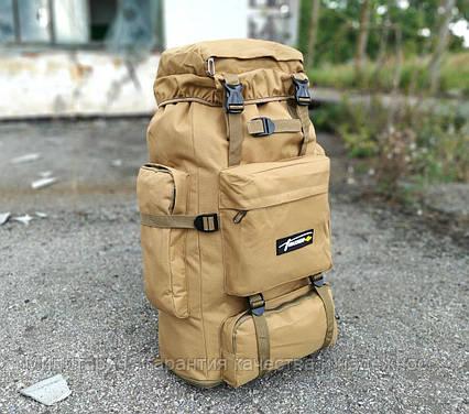Тактичний (туристичний) рюкзак на 80 л збільшується дно Coyote (ta70-new-1005-coyote), фото 2