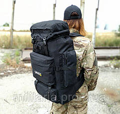 Тактический (туристический) рюкзак на 80 л увеличивается дно Black (ta70-new-1005-black), фото 2