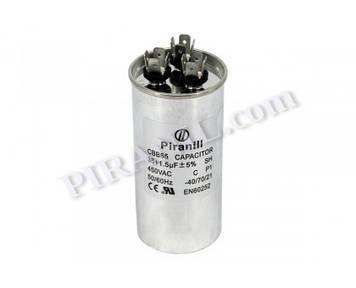 Конденсатор CBB65 35+1.5 мкф 450V, металевий, подвійний (Piranil)