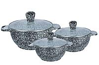 Набор кастрюль с крышками с гранитным антипригарным покрытием 6 предметов Edenberg EB-3985