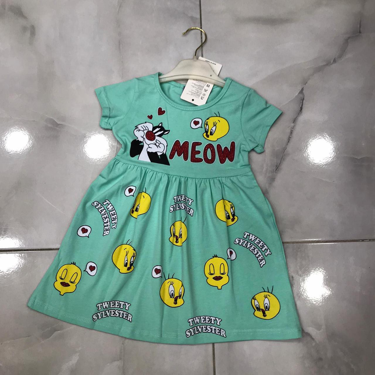Детское летнее платье 3-8 лет для девочек Турция оптом