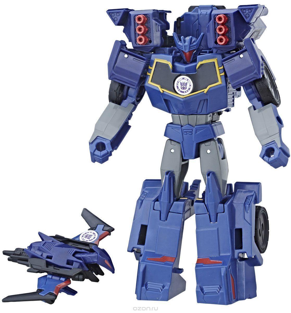 Трансформер Hasbro Transformers Саундвейв и Лазербик. Гирхэд-Комбайнер (Роботы под прикрытием) C2353