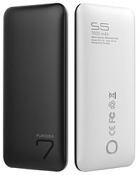 Портативна батарея (Power Bank) Puridea S5 7000mAh Li-Pol Black & White
