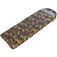 Спальник одеяло туристический с капюшоном 500г на м2 (200 х 70 см) SY-4062