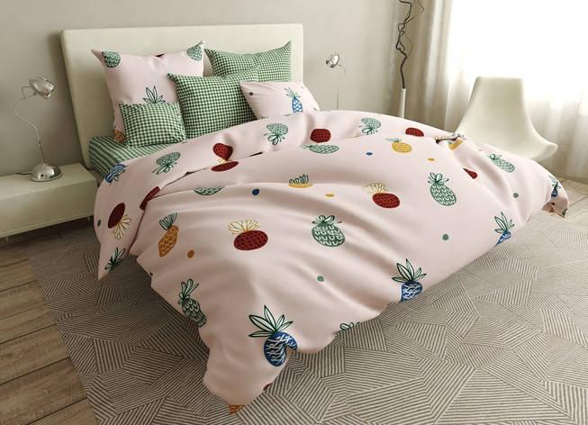 Двуспальный комплект постельного белья евро 200*220 ранфорс  (16737) TM KRISPOL Украина, фото 2
