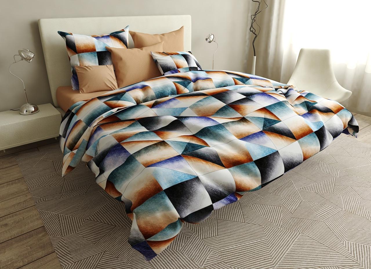 Двуспальный комплект постельного белья евро 200*220 ранфорс  (16738) TM KRISPOL Украина