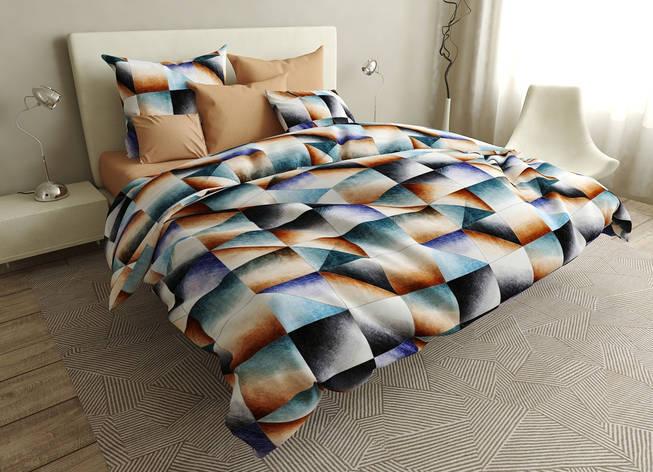 Двуспальный комплект постельного белья евро 200*220 ранфорс  (16738) TM KRISPOL Украина, фото 2