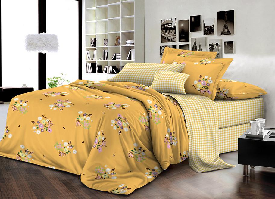 Двуспальный комплект постельного белья евро 200*220 ранфорс  (16759) TM KRISPOL Украина
