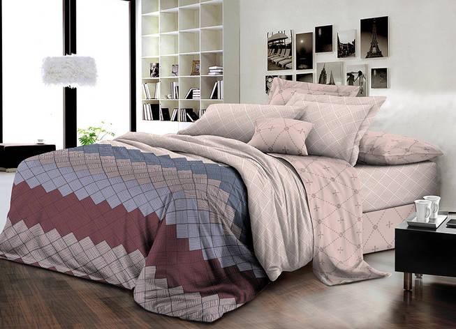 Двуспальный комплект постельного белья евро 200*220 ранфорс  (16763) TM KRISPOL Украина, фото 2
