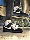 Кроссовки женские  Nike Air Force 1 Black Fur, фото 7