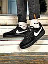 Кроссовки женские  Nike Air Force 1 Black Fur, фото 8