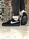 Кроссовки женские  Nike Air Force 1 Black Fur, фото 10