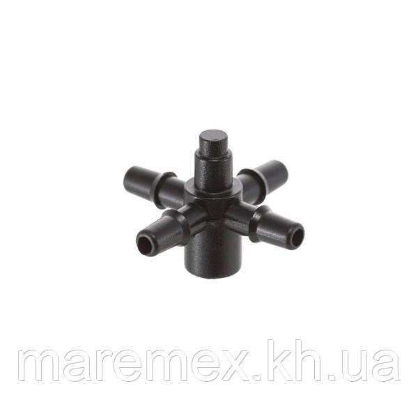 Адаптер для крапельниць Presto-PS на 4 виходи для краплинної трубки 3,5 мм (5135)