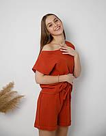Женская пижама из муслина шорты и футболка