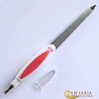 Пилочка маникюрная  для ногтей металлическая с резцом La ROSAВEAUTY NF265