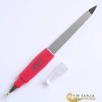 Пилочка маникюрная  для ногтей металлическая с резцом La ROSAВEAUTY NF62