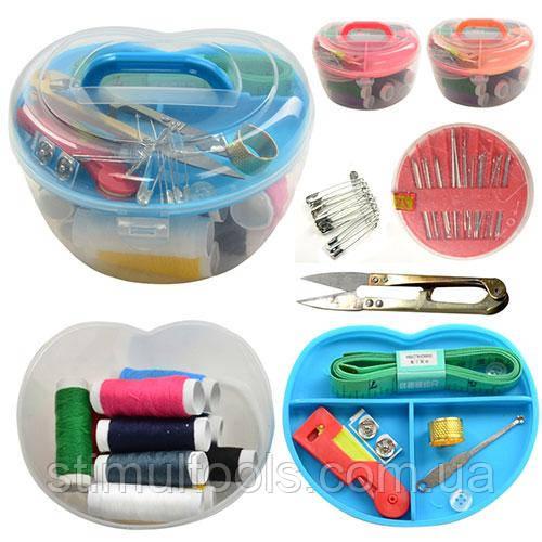 Швейний набір в пластиковій коробці Stenson 13*10 см