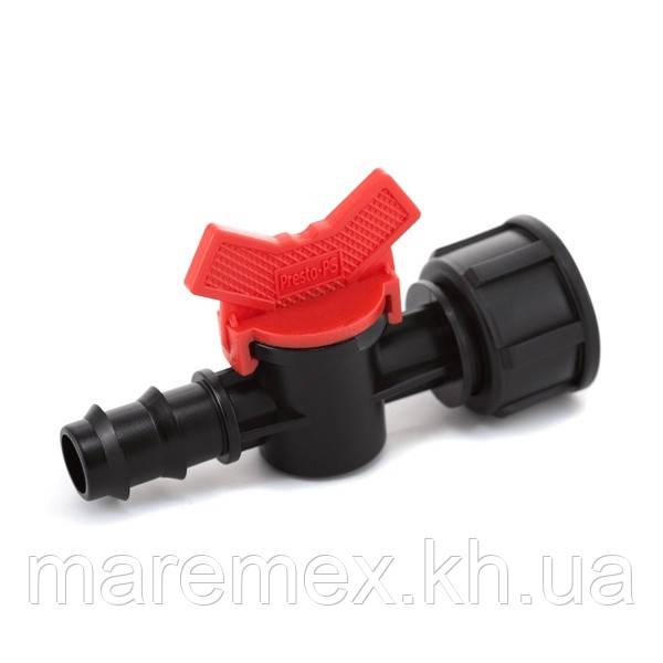 Кран кульовий Presto-PS з внутрішньою різьбою 3/4 дюйма для трубки 20 мм (BF-012034)