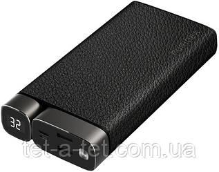 Портативная батарея (Power Bank) Puridea X02 20000mAh Li-Pol +TYPE-C Leather Black