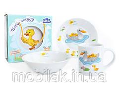 Набір для сніданку 3 прибори Duck Family ТМ Milika