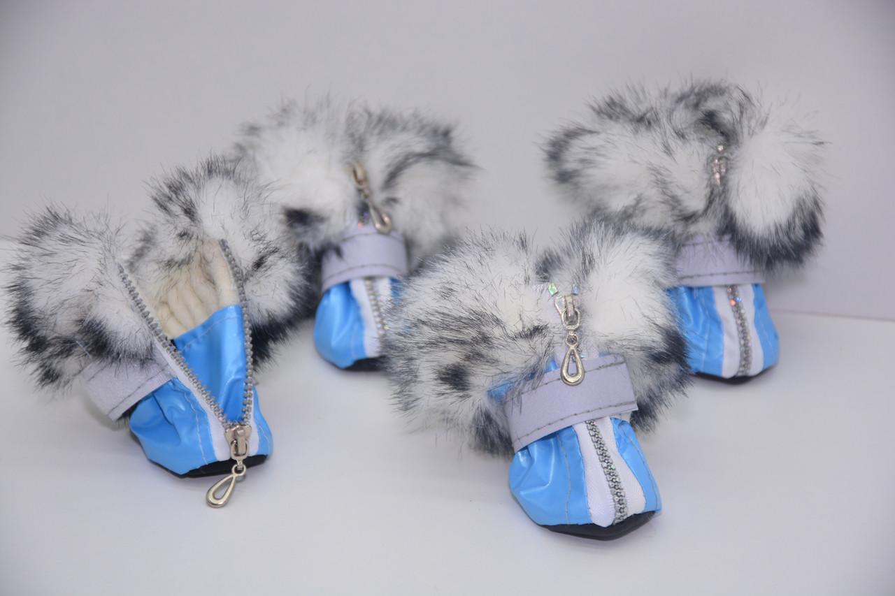 Черевички Зайка для собак міні 3 х 4 х 7,5