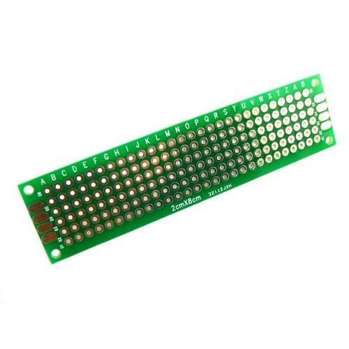 PCB 2x8 см двухсторонняя печатная плата, 100710