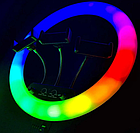 ОПТ Кільцева світлодіодна селфи лампа RGB MJ14 14 см 15 колірних схем і 10 ступенів яскравості, фото 2