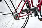 Велосипед женский городской VANESSA 26 Red с корзиной Польша, фото 2