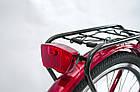 Велосипед женский городской VANESSA 26 Red с корзиной Польша, фото 3
