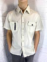 Рубашка мужская бежевая M-3XL
