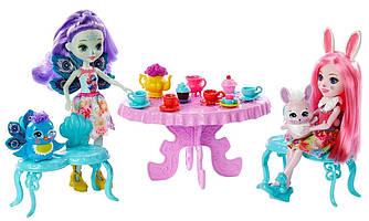 Enchantimals Игровой набор Чаепитие Пэттер Павлины и Бри Кролика Tasty Tea Party Mattel GLD41