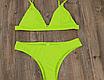 Женский раздельный стильный купальник Kapitto lime, фото 2
