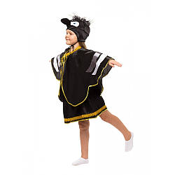 Детский карнавальный костюм ВОРОНА для девочки 4,5,6,7,8,9 лет, детский новогодний костюм ВОРОНЫ