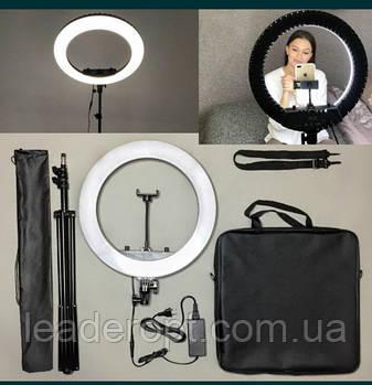 ОПТ Кільцева світлодіодна селфи лампа HQ18 45 см з регульованою яскравістю температурою і спрямованістю