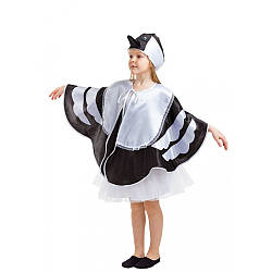 Детский карнавальный костюм СОРОКА ПТИЦА на девочку 4,5,6,7,8,9 лет детский новогодний костюм СОРОКИ маскарад