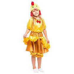 Детский карнавальный костюм КУРОЧКА РЯБА для девочки 3,4,5,6,7,8 лет, детский новогодний костюм КУРОЧКИ РЯБЫ