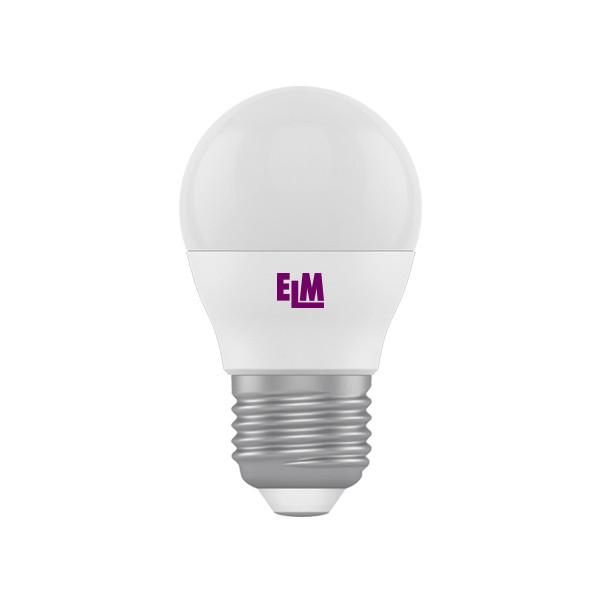 Лампа світлодіодна куля D45  6W PA10 E27 3000K ELM