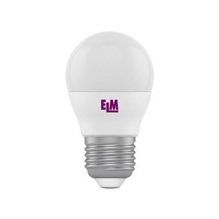 Лампа світлодіодна куля D45  6W PA10 E27 3000K ELM, фото 2