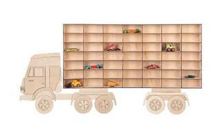 Полка для машинок - грузовик, парковка, детский гараж Хот Вилс