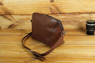 Сумка женская. Кожаная сумочка Майя Кожа Итальянский краст цвет Коричневый, фото 3